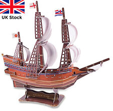 3D Puzzle The Golden Hind Sailing Ship - NEW! 108 Pieces! UK Stock Fast Delivery