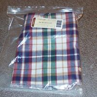 Longaberger Woven Traditions Plaid SMALL WORK LOAD Basket Liner ~ Brand New!