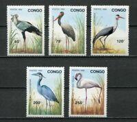 38053) Congo Rep.1992 MNH Birds 5v