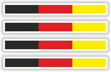 4x GERMANY STICKER STRIPE FLAG  DECAL BUMPER BIKE MOTO