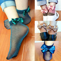KQ_ Summer Women Lady Sheer Silky Glitter Silk Short Stockings Ankle Socks New T