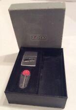 Vintage 1978 Zippo Corvette Lighter In Box Used With New Flint Corvette