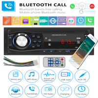 1 DIN USB Car Stereo MP3 Player Bluetooth Radio AUX TF Media Receiver Head Unit