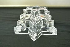 WMF 24% Lead Crystal Multi-tiered Star of David Candle Holder Made in Germany