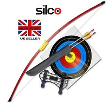 """RED RECURVE JUNIOR YOUTH BOW SET/ LONGBOW KIT - 44"""""""