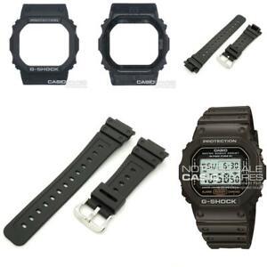 Genuine Casio Watch Band & Bezel G-Shock DW-5600E-1V DW-5600E Black Strap Shell