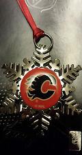 Calgary Flames - NHL Snowflake Christmas Ornament