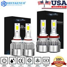 4pcs LED Headlight Kit H11 + 9005 Bulbs For Toyota Prius 2011-2010 High/Low Beam