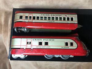 O Marx Pre War Union Pacific M-10000 US Mail Locomotive Engine + Motor & Coach