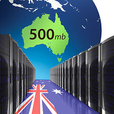 Website Hosting 500mb x 2 years - Local Australian cPanel servers host domain