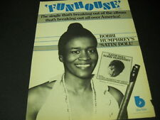 BOBBI HUMPHREY is a SATIN DOLL in the FUNHOUSE 1975 Promo Poster Ad mint cond