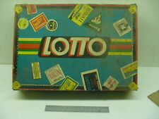 LOTTO GAME 4370 Milton Bradly Vintage 1932