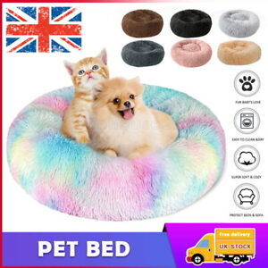 Pet Dog Comfy Calming Bed Warm Fluffy Bed Nest Mattress Fur Donut Puppy Bed Pad