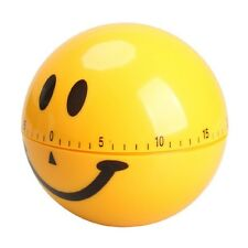 Stylish Mechanical Smiley Face Alarm 60 Minutes Kitchen Timer For Cooking