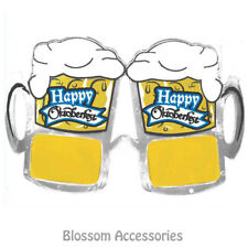 A959 Happy Oktoberfest Beer Mug Stein Glasses Funny German Costume Accessory