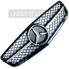 BLACK C63 STYLE SPORTS AMG FRONT RADIATOR GRILLE PANEL MERCEDES C-CLASS W204