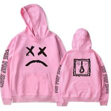 Sad Face Sweatshirt Hip Hop Rapper Hoodie Pullover Jacket Boy Costume Size S-4XL