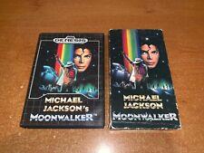 Michael Jackson's Moonwalker (Sega Genesis) Complete -- Authentic W/ VHS