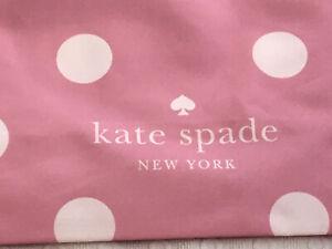 NEW Kate Spade PINK Polka Dot Canvas Tote XL Reusable Shopping Beach Bag Purse