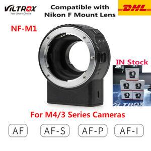 New Viltrox NF-M1 AF Lens Mount Adapter Ring for Nikon F Mount Lens M4/3 Cameras