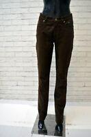 Jeans JECKERSON Donna Taglia 29 Pants Woman Pantalone Elastico Marrone Hose