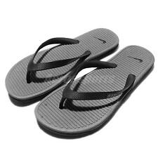 Nike Solarsoft Thong II 2 Black Grey Men Sandals Flip-Flops Shoes 488160-090