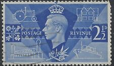"Great Britain Stamp - Scott #264/A107 2 1/2p Brt Ultra ""George VI"" Canc/LH 1946"