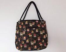 Damentaschen im Shopper/Umwelttaschen-Stil aus Canvas/Segeltuch mit Fächer und Reißverschluss