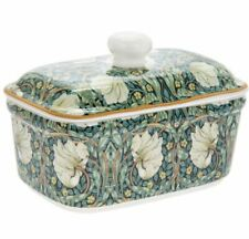 WILLIAM MORRIS PIMPERNEL FINE CHINA BUTTER DISH WITH LID NEW AND GIFT BOXED