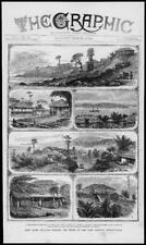 1872 Antique Print - INDIA Andaman Islands Viceroy Assassination Port Blair (249