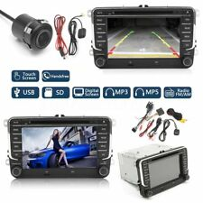 7'' Car DVD Player Radio Bluetooth GPS Sat Nav Stereo Camera For VW Passat Golf