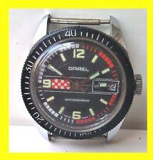g  garel SUB SWISS RARE DIVER  wristwatch men SPECIAL DIAL BLACK-RED 1960-70' a