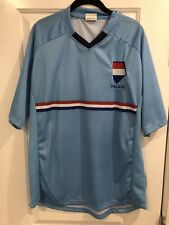 New Rare NEDERLANDS DUTCH FOOTBALL Vintage JERSEY HOLLAND WORLD CUP BLUE LARGE