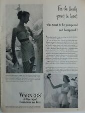 1951 womens Warner's bra girdle for the lovely young in heart vintage fashion ad