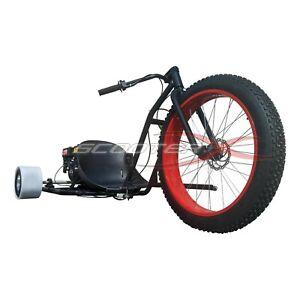 Drift Trike Gas Powered 6.5HP 3 Wheel Big Red Cart Go Kart Bike Motor Wheeler