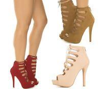 Delicious Women's Zip Strap High Heel Dress Shoe Patron-s