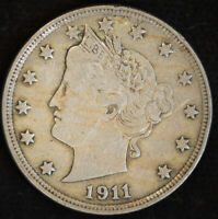 1911 Liberty Nickel, V Nickel, Very Fine++ Condition, Free Shipping in USA C4712