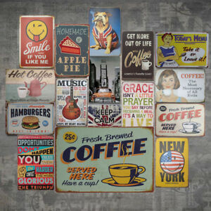 Vintage Metal Tin Sign Poster Plaque Bar Pub Club Cafe Home Plate Wall Decor UK