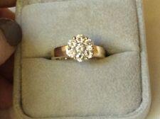 Auth. 14k gold: beautiful Diamond Flower Ring Size 6.5