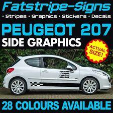 PEUGEOT 207 GRAPHICS STRIPES DECALS STICKERS CAR VINYL GTI PUG 1.4 1.6 PUG CC