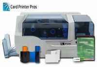 Zebra P330i ID Card Badge Printer Package 60 Day Warranty