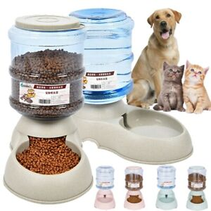 AUTOMATIC PET FOOD Self DISPENSER Large Dog Cat Feeder Waterer Auto Dish Bowl