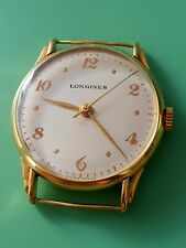 Year 1946 - Vintage Longines gents watch solid gold 18k - working