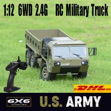 Fayee 1/12 6WD 2.4G RC Militär Auto Armee Truck Geländewagen Offroad Crawler LKW