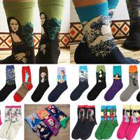 New Painting Art Men Women Socks Funny Novelty Starry Night Vintage Retro Socks