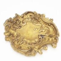 Vintage Brass Trinket Tray Paperweight Ashtray Victorian Decor