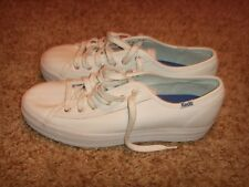 Keds White Lace up Sneakers Womens Size 7.5