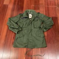 Vintage Alpha Industries M65 OG-107 Cold Weather Field Coat Size Small Long