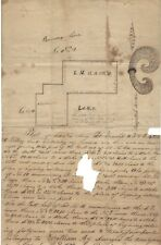 1834 Military Land Survey Includes Magnetic Meridian Design