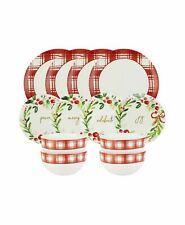 Lenox Mistletoe Memories by American Atelier 12-Piece Dinnerware Set #C515